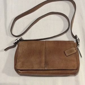 Coach Leather Crossbody, shoulder purse, deep tan
